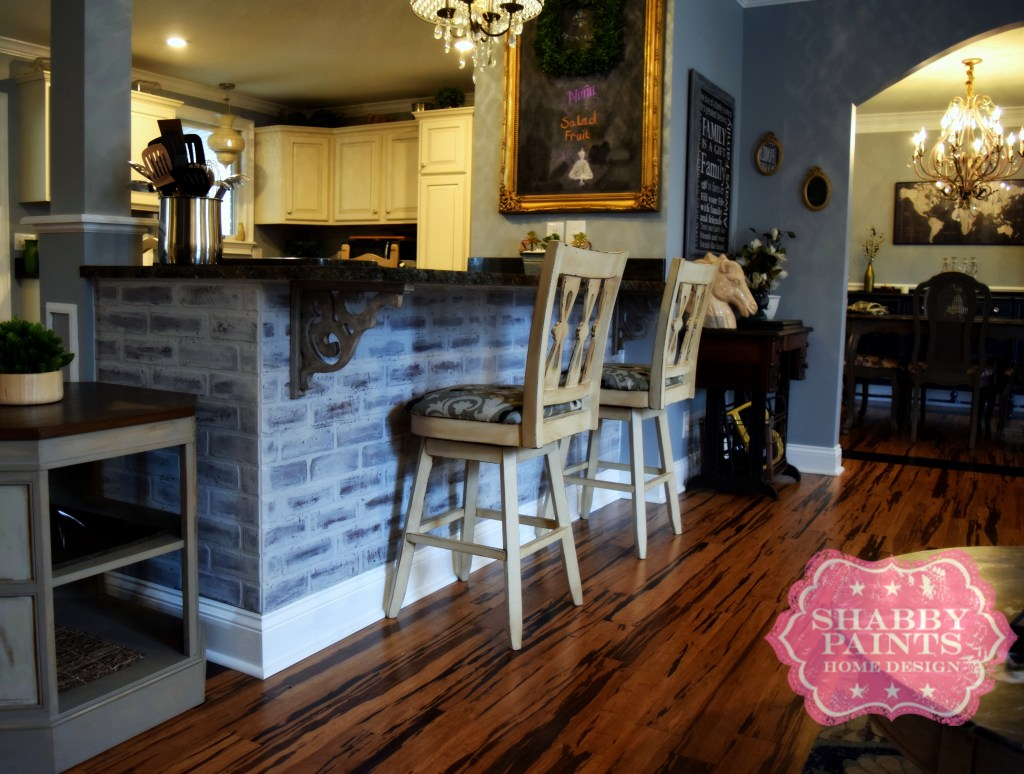 Faux Brick-painted. Old World Chic