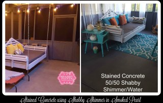 Shabby Paints easy stained concrete