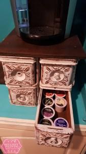 Repurposed Sewing Drawers K-Cup Storage