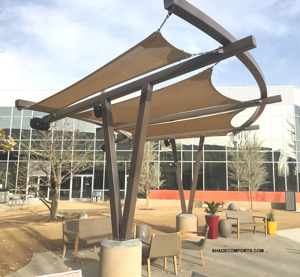 patio shade sail structure contractor