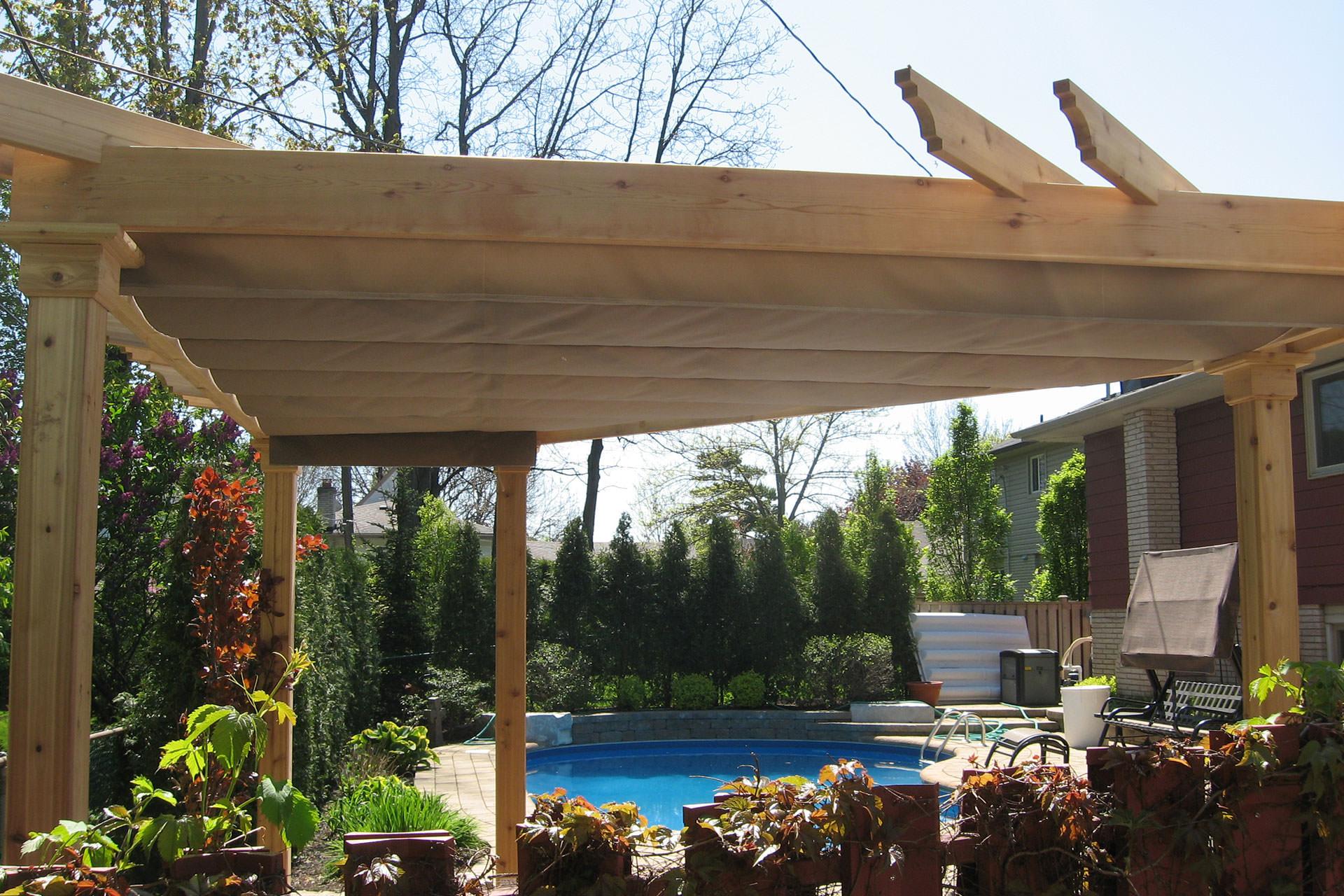Pergola Design: Custom Canopy Ideas from ShadeFX on Covered Pergola Ideas  id=39777