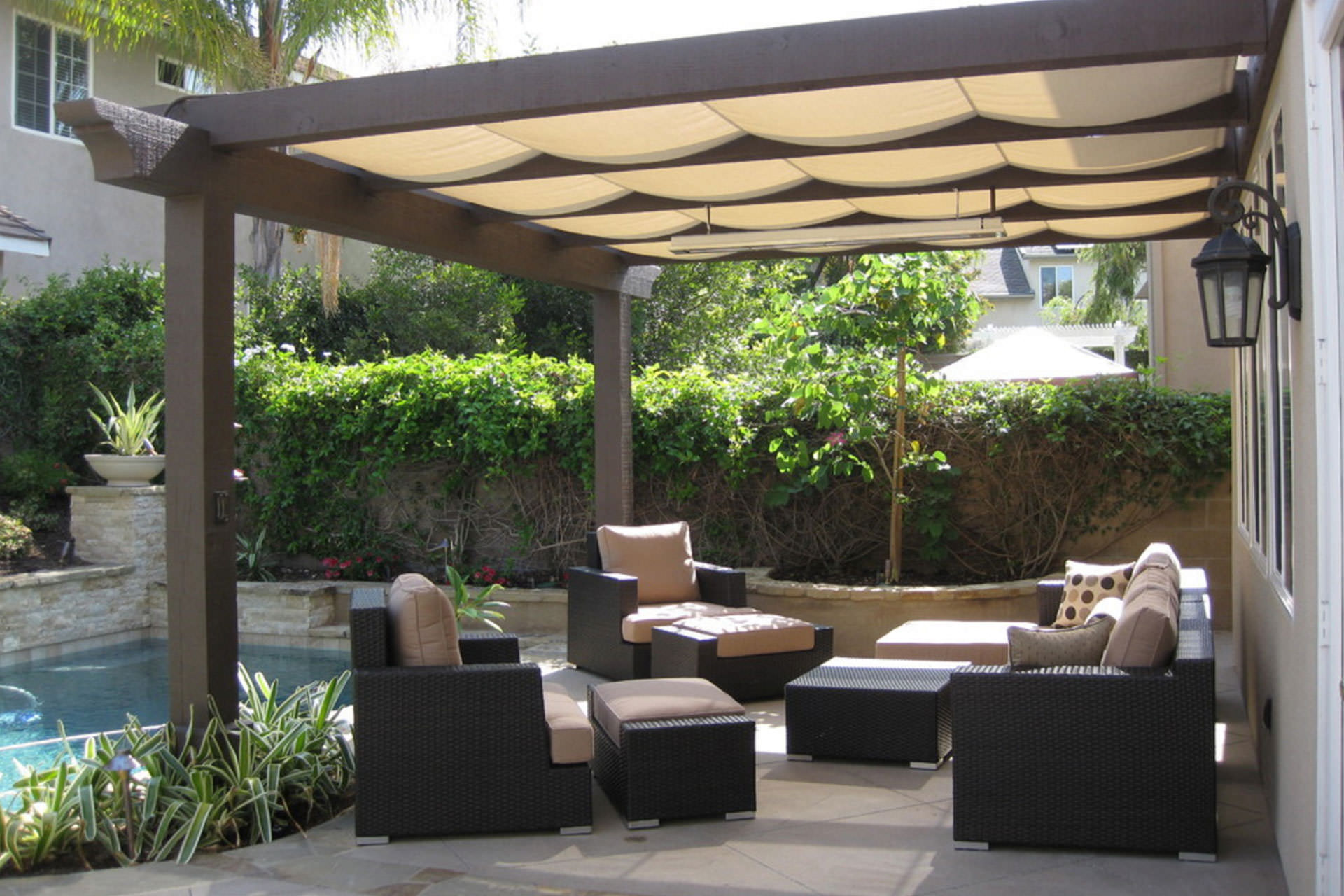 Pergola Shade: Pratical Solutions for Every Outdoor Space on Canvas Sun Shade Pergola id=50796