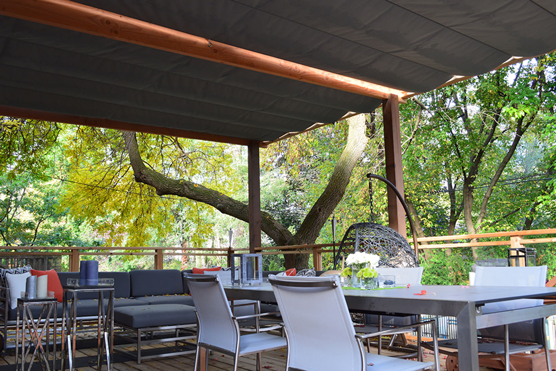 Keep Cool with These Five Patio Shade Ideas | ShadeFX Canopies on Patio With Deck Ideas id=37905