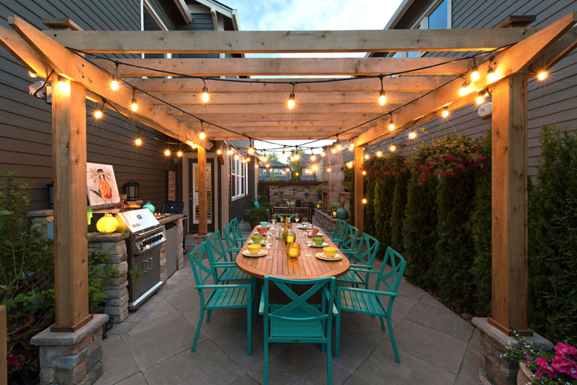 Five Pergola Lighting Ideas to Illuminate Your Outdoor Space on Backyard String Light Designs id=49106