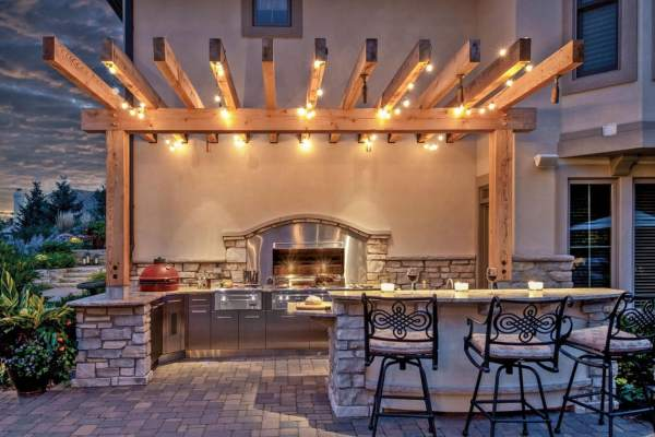 outdoor patio lighting string lights Let There Be Light: Pergola Lighting and Design Ideas