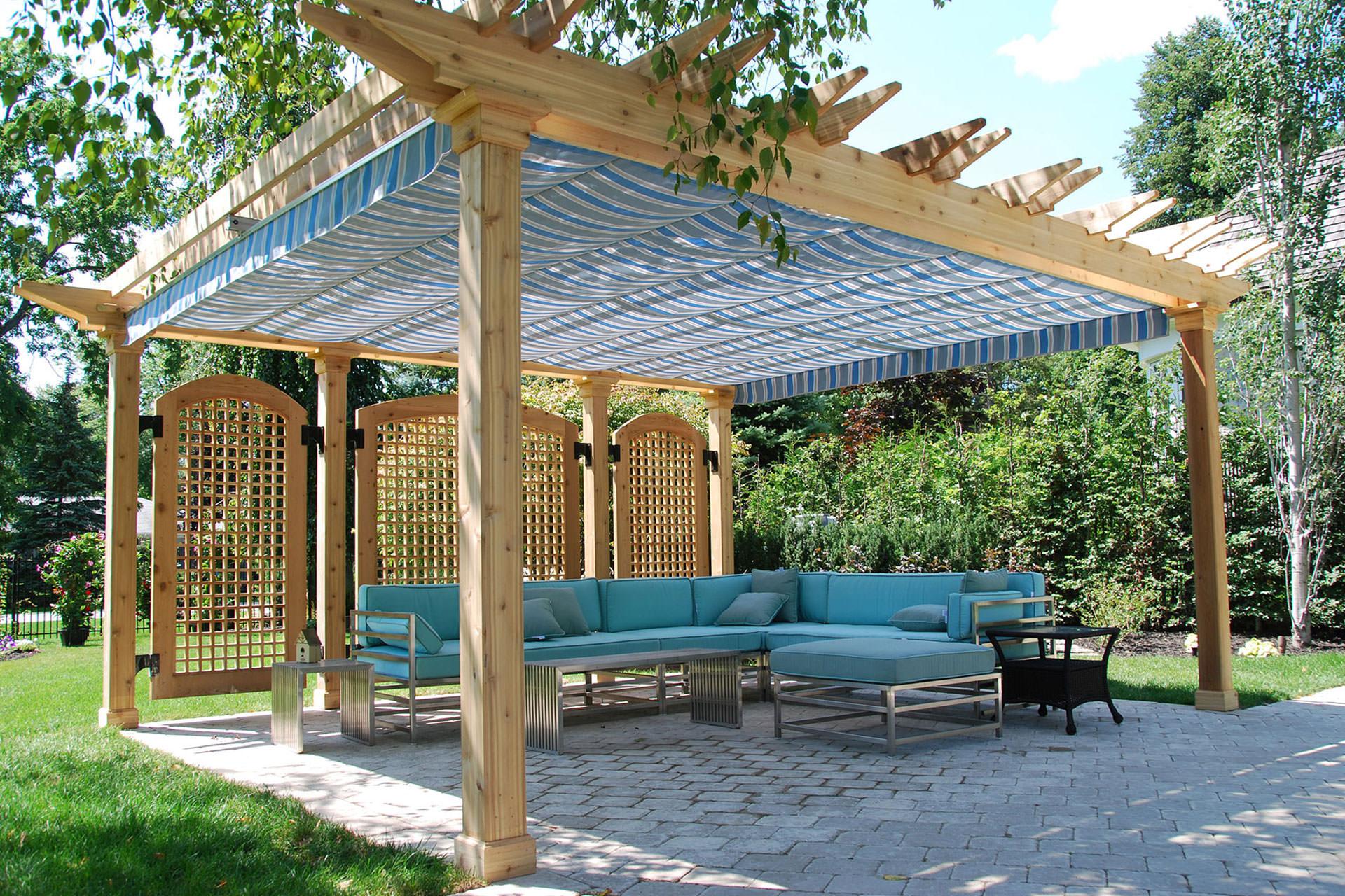 Retractable Pergola Canopy in Oakville | ShadeFX Canopies on Canvas Sun Shade Pergola id=29363
