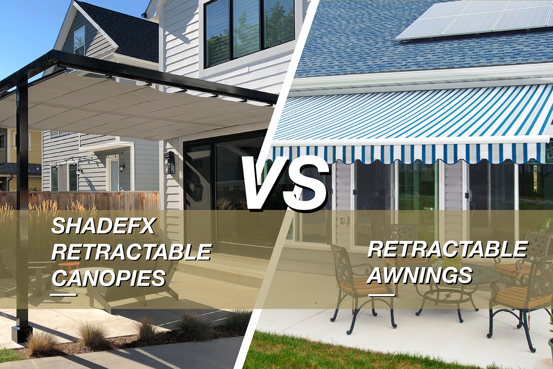 shadefx vs retractable awnings