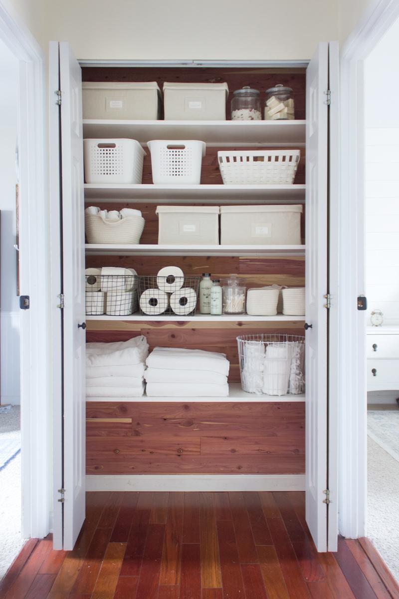 A Cedar Linen Closet Makeover Shades Of Blue Interiors