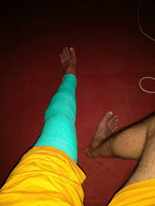 P.S. : The knee needed healing with plaster for all the use and abuse :)