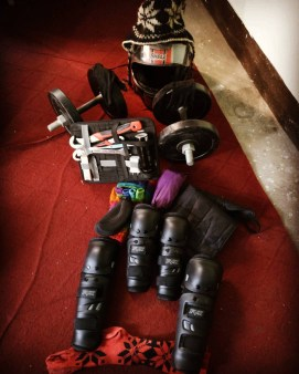 Travel Kit and Tools , Dumbbells for the show off