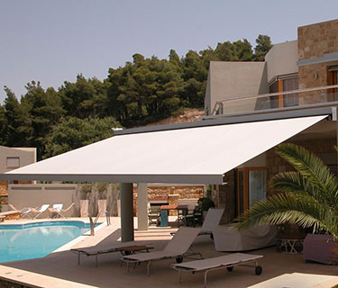retractable fabric awnings shadetree