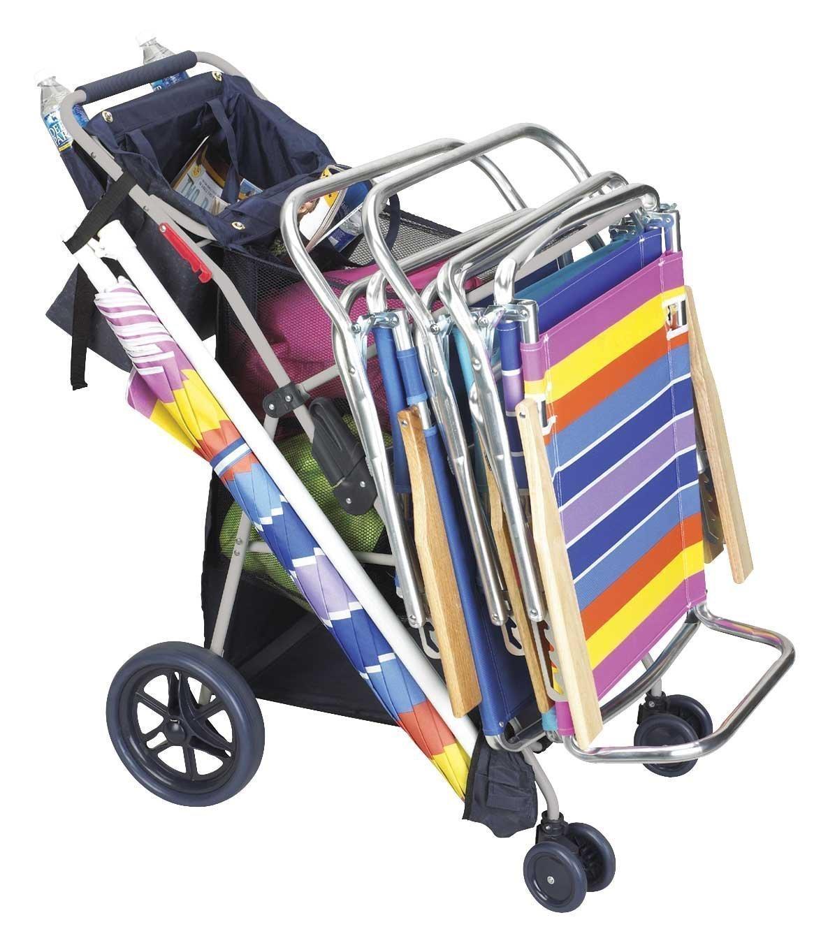 Deluxe Wonder Wheeler Beach Cart