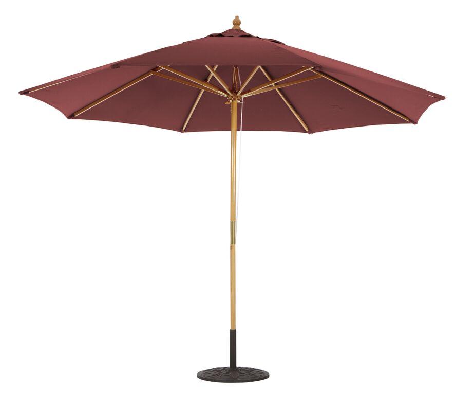 11 suncrylic c wooden patio umbrella quad pulley lift no tilt
