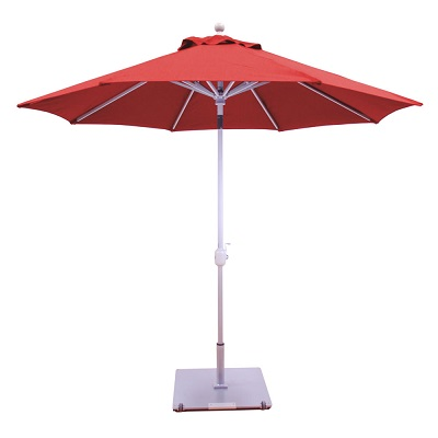 9 sunbrella b aluminum patio umbrella driftwood pole crank lift auto tilt aluminum ribs