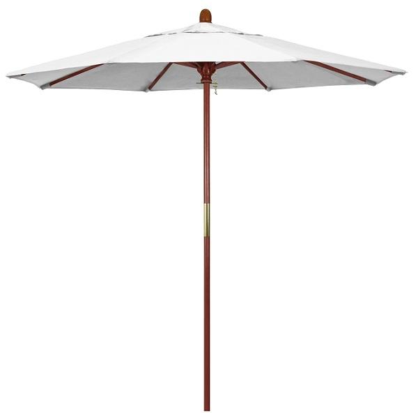 7 5 wood sunbrella a patio umbrella manual lift no tilt
