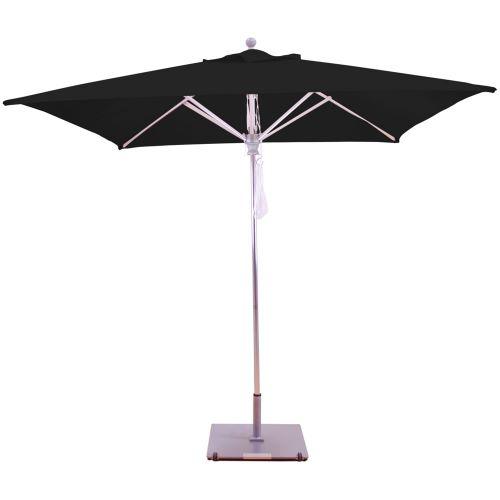 8 x 8 square sunbrella b square aluminum patio umbrella quad pulley lift no tilt aluminum ribs