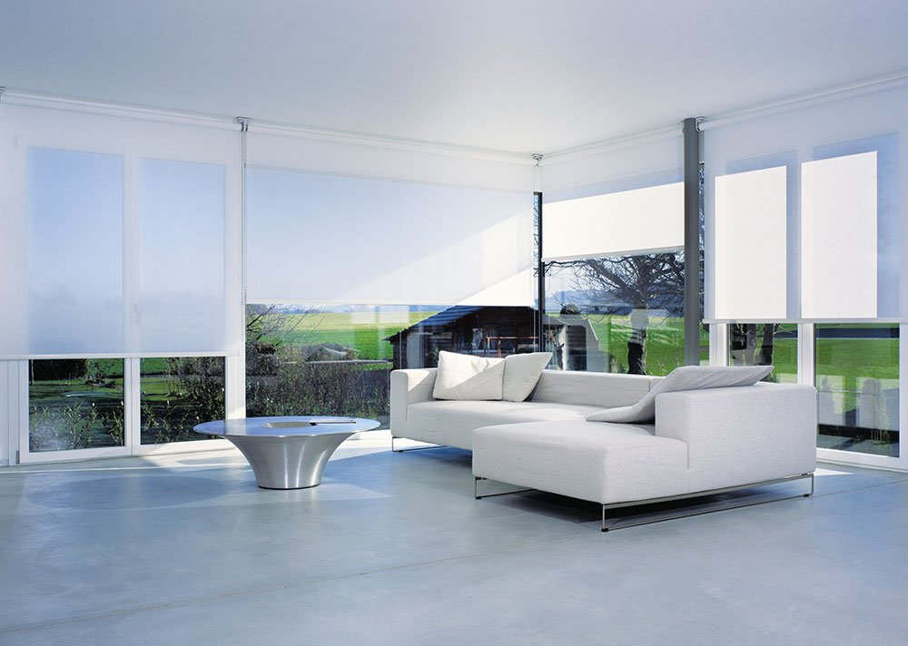 White Colorama Roller-Blinds