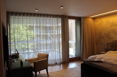 Blackout 80mm Wave lined curtains and sheer unlined Wave Curtains