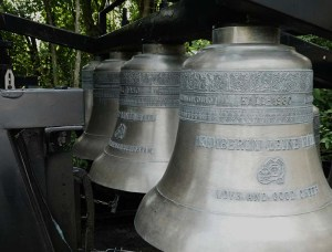 Large brass bells