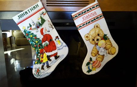 We brought our stocking for Santa to fill!