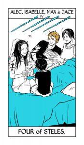 Isabelle, Alec, Jace e Max