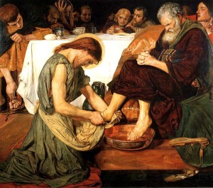 Brown Jesus Washing Peters Feet 1852-56