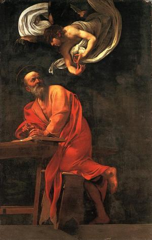 Caravaggio_The_Inspiration_of_St_Matthew_1602_Contarelli_Chapel