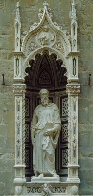 Donatello St. Mark 1411-13 Marble Height 236 cm Orsanmichele, Florence Donatello Saint Mark 1411. jpg