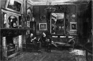 Dunn Rossetti at home in Tudor House 1882