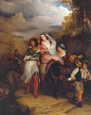 Eastlake The Escape of Francesco Novello di Carrara_with_his_Wife_1850