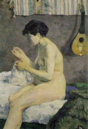 Gauguin_Nude_Study_or_Suzanne_Sewing_1880