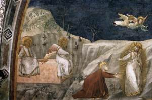 Giotto_Assisi_lower_church_Noli_me_tangere_1320s
