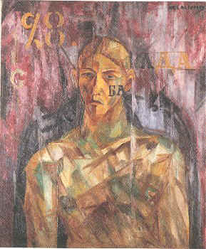 Larionov_Portrait_of_Tatlin_1913-14