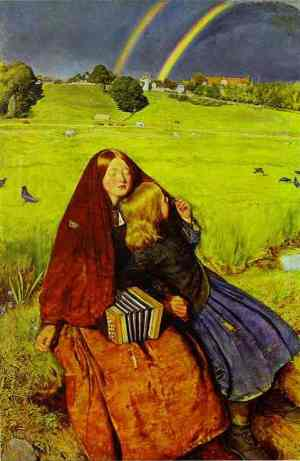 Millais The Blind girl 1856