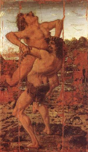 Pollaiuolo_Hercules_and_Antaeus_1478
