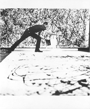 Pollock_in_his_studio