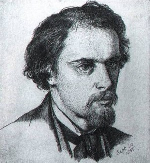 Rossetti self-portrait 1855