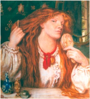Rossetti Woman Combing Her Hair 1864