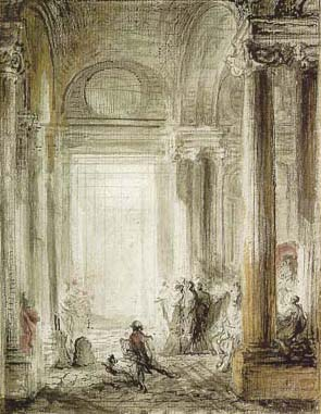 Saint-Aubin_The_Entrance_of_the_Academy_of_Architecture_at_the_Louvre_1779