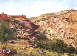 Seddon_Jerusalem_and_the_Valley_of_Jehoshaphat_from_the_Hill_of_Evil_Counsel_1854