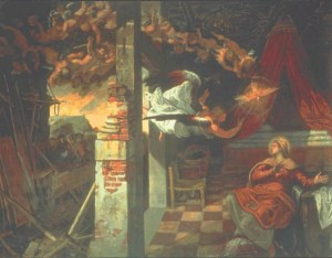 Tintoretto The Annunciation c1582-57