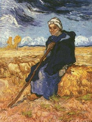 Van_Gogh_The_Shepherdess_after_Millet_1889