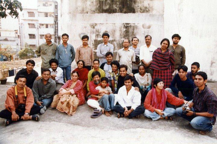 At Pathshala with Joseph Rozario and Anisur Rahman