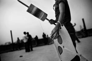 Poush Shonkranti. Another kite vying to be king of the sky. Photo: Abdullah Shaker
