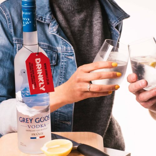 Drinkly Christmas Photoshoot Food & Drink Female Male Model Vodka Grey Goose