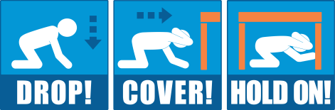 Image result for drop cover and hold on