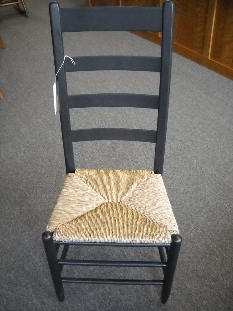 Shaker Furniture Of Maine 187 Oak And Rush Ladderback Chair