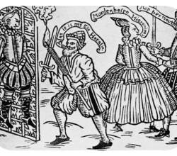Illustrative of a Farthingale and Hose