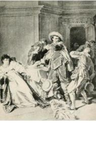 Petruchio's Violence. From Stories of Shakespeare's Comedies by Helene Adeline Guerber. Illus. Ed. Gruetzner