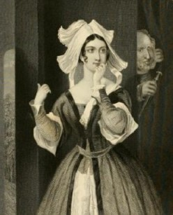 Mistress Page and Falstaff. From The Stratford Gallery. Henrietta Lee Palmer (1867)